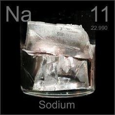 Sodium - the lustre of this metal is just so lovely!