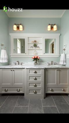 Gray cabinets are BM Ozark Shadows || Historical St. Paul Renovation / Fluidesign Studio