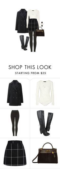 """""""No.1247"""" by coolchick1630 ❤ liked on Polyvore featuring Uniqlo, Donna Karan, Topshop, rag & bone, Hermès, Daniel Wellington, women's clothing, women, female and woman"""