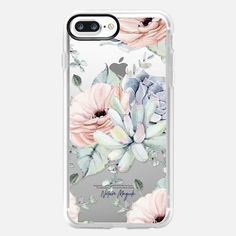 Casetify iPhone 8 Plus Classic Grip Case - Pretty Succulents by Nature Magick by Nature Magick by Autumn Kalquist Iphone Wallet Case, Iphone 6 Plus Case, Cute Cases, Cute Phone Cases, Iphone Cases Disney, Iphone Case Covers, Aesthetic Phone Case, Latest Iphone, Magick
