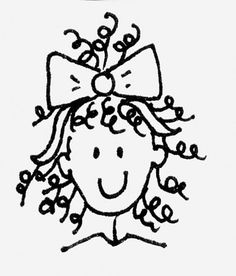 girls with curls clip art