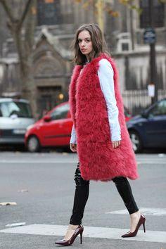 sabfashionlab-fashion-blog-mode-sonia-rykiel-pink-feather-patent-shoes-patent-pants-2