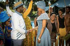Photos Lerato and Sechaba Traditional Sotho/Tswana wedding on Isidingo - ICT Politics African Wedding Theme, African Wedding Attire, African Attire, African Wear, African Fashion, African Weddings, African Print Dresses, African Dress, African Prints
