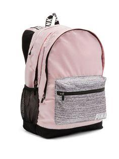 Victoria's Secret Pink Campus Mochila Querubín Rosa jaspeado gris envío gratis de prioridad