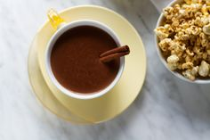 Before you make this recipe, I've got a big ol' caveat to throw out there. You all know how much we love chocolate, right (I mean I do have a Pinterest board dedicated to it)? Well, then you'll understand why this is not hot cocoa but hot chocolate. We're talking real deal, Euro-style hot chocola...