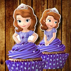 PRINTABLE Sofia the First Cupcake Toppers by FancymyCupcakeTopper