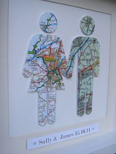 I've just found Personalised Couple Map Picture. An original and handmade piece of artwork made especially for you using new and vintage maps. . £65.00