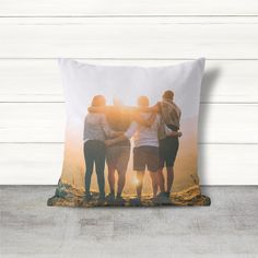 Custom throw pillow cover with an optional insert, printed with your own family picture.  Size options: 14x14, 16x16, 18x18, 20x20, or 26x26.  #family  #pillow #throwpillow #pillows #pillowcover #homedecor #interiors #interiordesign #photopillow