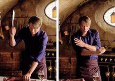 """""""before/after"""" Hannibal/Mads - adorable dork"""