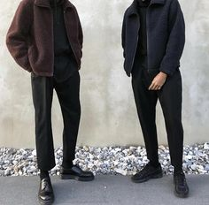 winter mens fasion that looks great . Classy Outfits, Casual Outfits, Fashion Outfits, Streetwear Mode, Streetwear Fashion, Stil Inspiration, Korean Fashion, Mens Fashion, Classy Fashion