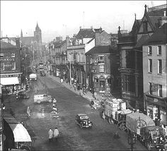 High Street (now Town Road), Market Square and Parliament Row - Hanley, Stoke-on-Trent, Staffordshire
