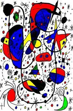 Joan Miró (April 1893 – December was a Spanish painter, sculptor, and ceramicist born in Barcelona. Joan Miro Paintings, Spanish Painters, Elementary Art, Creative Art, Art Lessons, Art For Kids, Art Projects, Abstract Art, Illustration Art