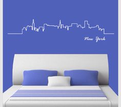 City lined wall decal