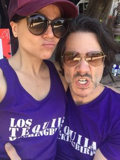 Awesome Lana and Fred #ValleValentinesCouplesWar Let the games begin #Volleyball with awesome Eva Longoria Sean Elliott Lana and Fred r #LosTequilaMockingbirds Los Angeles Ca Friday 2-12-16