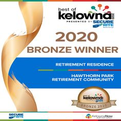 Hawthorn Park Retirement Residence in Kelowna is so proud and grateful to have won Bronze in the Best of Kelowna 2020! Thank you to everyone who voted!😄 #vervecares #community #appreciation #bestofkelowna Wellness Activities, Mobile Storage, Emergency Response, Assisted Living, Senior Living, Retirement, Grateful, Appreciation, Health Care
