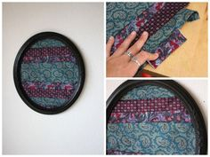 Neck ties have been turned into a number of things, from skirts to lamp shades! It's such a colorful and versatile item to work with. I took some old ties and turned them into fun oval shaped modern art. I…