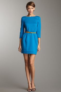 Craze Solid Ponte Dress  Trina Turk