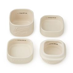 Stackable Mason Jar Measuring Cups | ceramic measuring cups, canning jars | UncommonGoods