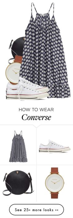 """Untitled #493"" by triskid on Polyvore featuring Valextra, Skagen, H&M and Converse"