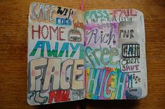 My Wreck This Journal - four letter words
