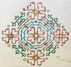Big Rangoli Designs, Beautiful Rangoli Designs, Dots Design, Design Art, Indian Art, Symbols, Decorations, Culture, Traditional