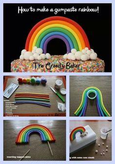~ FONDANT FUN ~Gumpaste Rainbow design