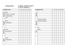 Variety Of Printable Grade Attendance Record Forms