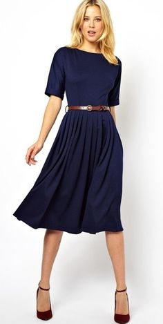 Modest pleated midi dress with elbow length sleeves | Mode-sty tznius – Mode-sty
