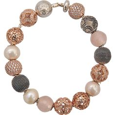 This bracelet was made by the must have designer THOMAS SABO. It is constructed with silver and semiprecious stones. 925 Sterling silver Rose gold 18 carats Fr…