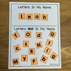 """10 Print Awareness Activities for Beginning of Kindergarten with a focus on letter discrimination; letter, word, and sentence sorts; and """"letters in your name"""" activities. Annie Jewell."""