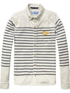 Jersey Shirt |Shirt l/s|Boys Clothing at Scotch & Soda