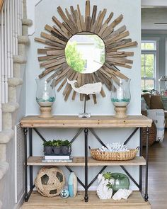 Did you know most people make their first impression of a home within 3.5 seconds? Take advice from our blogger friend @sandandsisal on how to create a welcoming #entryway and see how she decorated hers with our Coastal Cottage Collection by clicking the link in our bio! #myKirklands #beachdecor #ontheblog #blog