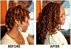 Loc spiral results. To learn how to grow your hair longer click here - http://blackhair.cc/1jSY2ux