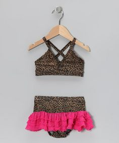 Take a look at this Brown Leopard Bikini - Infant, Toddler & Girls by Frankie & Daisy on #zulily today!