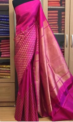 Do you want to find out about quality Latest Elegant Indian Sari including items such as Elegant Saree also Latest Elegant Sari Blouse if so then CLICK VISIT link above for more info Saree Draping Styles, Saree Styles, Silk Saree Kanchipuram, Silk Sarees, Kanjivaram Sarees, Indian Attire, Indian Ethnic Wear, Traditional Sarees, Traditional Outfits