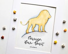 This original watercolor is perfect for every Narnia lover! Perfect for a boy nursery or a gender neutral nursery, this 8x10 watercolor is painted on cold press watercolor paper. **frame not included.