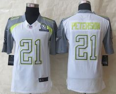"""$25.88 at """"MaryJersey"""" (maryjerseyelway@gmail.com) Nike Cardinals No.21 Patrick Peterson White Pro Bowl Men's Stitched NFL Elite Team Carter Jersey"""