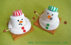 Cute Food For Kids?: Oh No ~~~ My Snowmen are Melting!