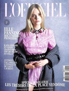 Elle Fanning on L'Officiel Paris December-January 2017.18 Cover #miumiueditorial
