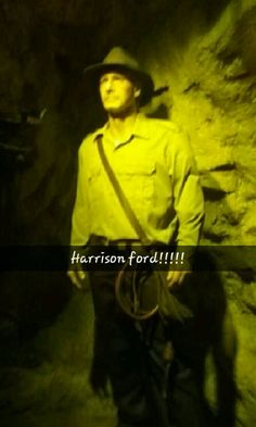 Harrison Ford. Known to some as Indiana Jones, better known to me as Han Solo. (Pictured here as Indy Jones) #HollywoodWaxMuseum