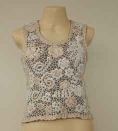 """Ivelise Hand Made: My Works Blouse """"Claudia Joy"""" Irish Crochet Ended In ..."""
