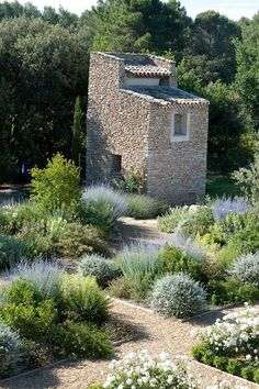 Thomas Gentilini Architect, Private Garden, Provence Saint Cannat Parkway and front boarder. Wood rail and crushed granite boarders for lavender and olive too. Dry Garden, Gravel Garden, Garden Paths, Garden Landscaping, Home And Garden, Pea Gravel, Gravel Path, Garden Bed, Landscaping Ideas