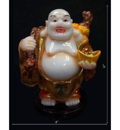 Laughing Budhha With Gold @ Rs 600  Its on Huge Discounts of all Statue in India. http://www.krafthub.com/fengshui-products/buddha-statues/laughing-budhha-with-gold.html