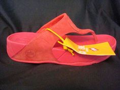 FitFlop Fit Flops Walkstar 3 Nubuck Hibiscus Red Toning Flops NEW FREE SHIP #FitFlop #FlipFlops