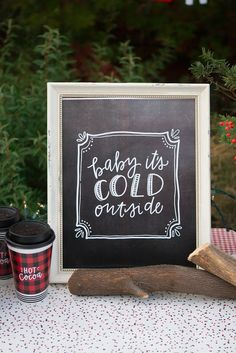Hot Chocolate Christmas Party + Free Printables