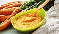 Purée de carotte pour bébé.  Ne jamais utiliser l'eau de cuisson de carottes car elle contient des nitrates.  Temps de préparation :25 min Temps de cuisson :20 min Temps total :45 min Portion(s) :14