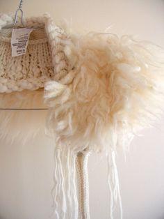 wool fleece collar, by Nikki Gabriel