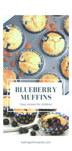 These Mary Berry blueberry muffins are one of our favourite bakes. They are easy to make, light and fluffy and with the addition of blueberries, they're not too sweet.  #easy #blueberry #muffins #homemade #recipe #moist #recipe easy #moist #mary berry #easy for kids #simplt #bakery #how to make Mary Berry, Baking With Kids, Toddler Fun, Blue Berry Muffins, Baking Recipes, Blueberry, Biscuits, Berries, Bakery