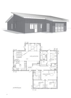 Bläddra inspirationskatalog | Sävsjö Trähus AB Family House Plans, Dream House Plans, House Floor Plans, Future House, My House, Sims 4 Houses, Planer, Interior Architecture, Building A House