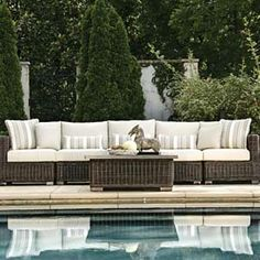 All weather wicker and outside cushions!  for outdoor patio furniture ideas check out our store in Highland Park, IL or online at williamsskiandpatio.com  We either have these items in stock or you can order them!
